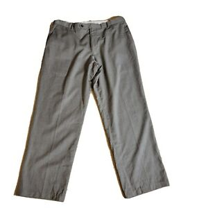 Dockers Collection Dress Pants 36x30 Gray Flat Front Relaxed Fit Wool Blend