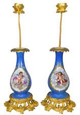 Vases bougeoir. Kaminuhr Empire clock bronze pendule uhren porcelaine sevres