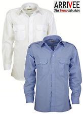 ARRIVEE Pilotenhemd Größe L bis 4XL ( 41/42 bis 49/50) 2 Brusttaschen Kentkragen