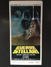 "Original Star Wars Italian Poster - Guerre Stellari - 1977 26""x13"""