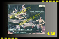 FREE SHIPPING Warriors 35195 1/35  British Cromwell Crew - WA35195 4 figure