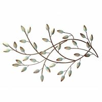Gold and Teal Metal Leaves Hanging Interior Wall Art Home Decor