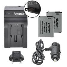 Vivitar Dual Battery SLB-10A & Charger Kit for Samsung WB350F WB1100F