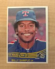 BILLY SAMPLE TEXAS RANGERS SIGNED AUTOGRAPHED 1984 DONRUSS CARD #403 W/COA