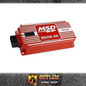 MSD 6AL DIGITAL MULTIPLE SPARK IGNITION CONTROL BOX W/REV LIMITER RED - MSD6425