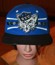 BYU Cougars Snap Back Ball Cap Royal Blue and Black With Raised Logo Gorgeous!