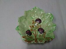 Brentleigh Ware Majolica Leaf Dish with Blackberries England