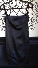 Dolce & Gabbana D&G sexy black satin dress size 44 u.s. 6 8