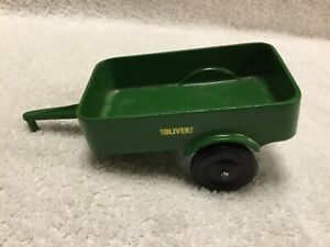 Vintage Oliver Cast Aluminum Toy Tractor Wagon Trailer Silk