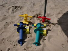 GROUND SOCKET FOR SAND BEACH, UMBRELLA HOLDER, STAND, PARASOL HOLDER YELLOW