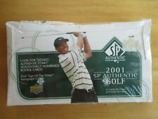 2001 TIGER WOODS UPPER DECK SP AUTHENTIC FACTORY SEALED GOLF CARDS-HARD TO FIND!