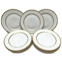 "Set Of 10 Rosenthal Gold Trim Dinner Plates 10.25"" Selb-bavaria Burley & Co."