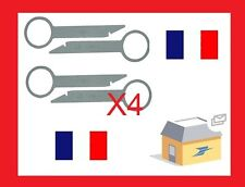 x4 clés d'extraction de démontage façade autoradio DELTA MCD MFD RNS-D RNS-E