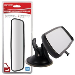Rear View Mirror Dipping Interior Wide Angle Suction Learner Car Van 21x5cm