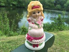 Antique Porcelain Pomander Potpourri Holder Victorian Rose Girl Sweet Briar