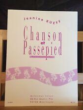 Jeanine Rueff Chanson passe-pied saxophone alto piano partition éditions Leduc