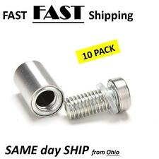 0.5 OD 0.25 Length, Round Standoff 1//4-20 Screw Size Stainless Steel Pack of 10 Female