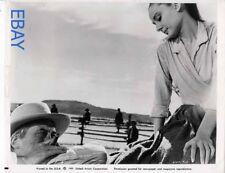 John Huston directs Audrey Hepburn The Unforgiven candid on set