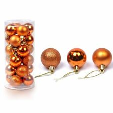 Colourful Christmas tree Decor Ball Hanging Bauble, Party Ornament Decor- 24pcs