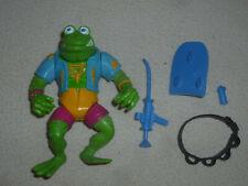 Vintage Tmnt Ninja Turtles Figure Genghis Frog Nr Complete Playmates 1989