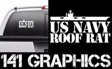US Navy Roof Rat Aircraft Carrier Flight Deck Crew Veteran Car Decal Sticker