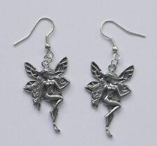 Earrings #113 Pewter Fairy (35mm x 22mm)
