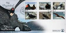 Ascension Island 2013 FDC Frigatebird Returns 6v Set Cover Birds Stamps