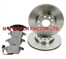 FOR AUDI A3 MK2 1.4 1.6 1.9 TDi (2004-2010) FRONT BRAKE DISCS & PADS SET *NEW*