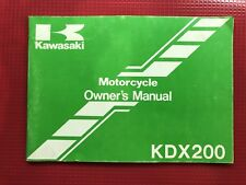 1988 Kawasaki KDX200-C3 Owners Manual