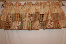 J C Penney Home Collection Valance Gold Quilted  3 Available