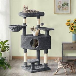 Cat Tree Cat Tower with Large Perch, Scratching Posts, Activity Tower Indoor Cat