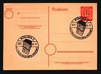 Germany 1946 Munich Export Event Postal Card - Z16752
