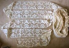 33 yds x 5� Antique Hand Made Needle Lace Early 20thC Min. 3 Yard Purchase -1042