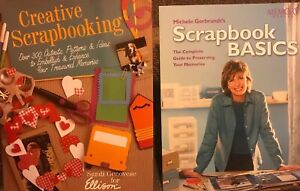Scrapbook Lot Of 2 Books - Creative Scrapbooking And Scrapbook Basics