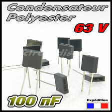 CP100n# 5 à 100pcs  100nf 63v condensateur polyester -- capacitor 100 nf