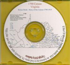1790 Census CD - Virginia Genealogy