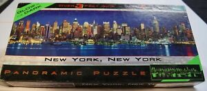 PANORAMIC PUZZLE New York, New York 750 Piece Over 3 Feet Wide Complete