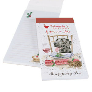 Wrendale Design Christmas Is This My Seat Dog Magnetic Shopping List Pad 21x10cm
