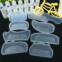 3D Transparent Silicone Comb Mold Resin Mould For DIY Jewelry Making Tools Craft