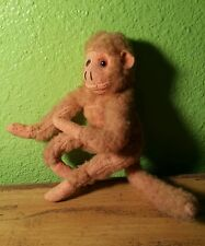 """VINTAGE MADE IN JAPAN PLUSH FLEXIBLE POSE ABLE MONKEY DOLL APPROX. 7"""""""