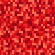 quart BITMAP Rouge PIXELS 100% coton tissu patchwork Michael Miller