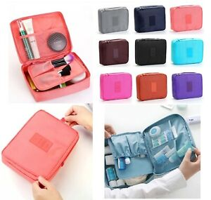 Travel Cosmetic Storage MakeUp Bag Folding Toiletry Wash Organizer Pouch NEW 1pc