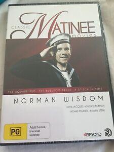 CLASSIC MATINEE MOVIES NORMAN WISDOM THE SQUARE PEG/BULLDOG BREED/STITCH IN TIME