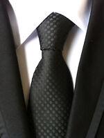 Classic Men's Black polka dot JACQUARD WOVEN Neck Ties Wedding Party gift