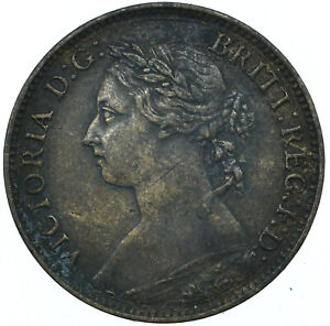 1886 FARTHING GB UK QUEEN VICTORIA VERY NICE COLLECTIBLE COIN  #WT27951