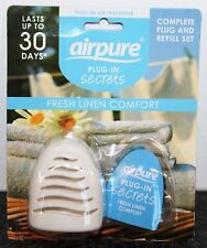 Airpure Fresh Linen Comfort discreet Plug-In Air Freshener Complete Plug Set