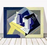 "JUAN GRIS Art - Fruit Platter CANVAS PRINT 12x8"" - Cubist, Cubism, Abstract"