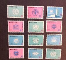 Korea 1971 VF Mint Hinged Sc#756-780  Catalogs $100