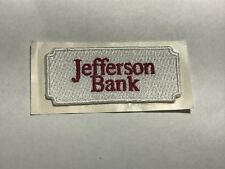 Jefferson Bank Oldsmar Florida FL Banking Corporation Red Company Logo Patch B