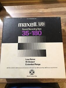 MAXELL UD 35-180. METAL REEL 10.5 INCH BY 1/4 INCH  Mixed Artists. Recorded Reel